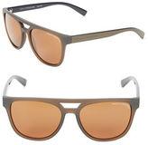 Armani Exchange 55mm Modified Aviator Sunglasses