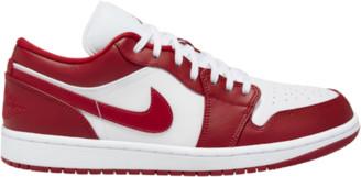 Jordan AJ 1 Low Basketball Shoes - Gym Red / White