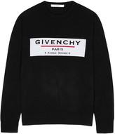 Givenchy Black Logo-intarsia Wool Jumper