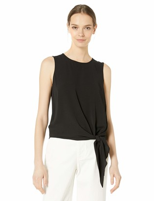 Vince Camuto Women's Sleeveless Tie Front Blouse