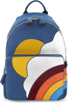 Anya Hindmarch Silver Cloud suede backpack