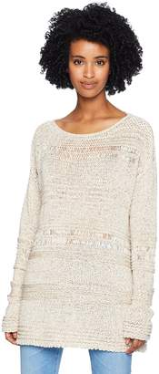 BCBGMAXAZRIA Women's Mixed Stitch Sweater