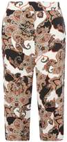 Petite Paisley Wide cropped trousers