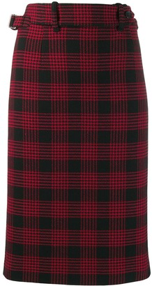 RED Valentino Glen plaid-pattern pencil skirt