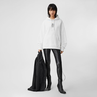 Burberry Zip Detail Stretch Crepe Jersey Leggings