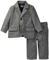 Andy & Evan Herringbone Suit Set (Baby Boys)