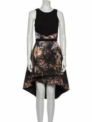 Nha Khanh Printed Midi Length Dress Black