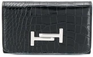Tod's crocodile-effect wallet
