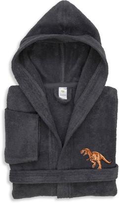 Linum Home Textiles Kids Dino Turkish Cotton Hooded Terry Bathrobe