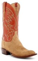 Lucchese Genuine Leather & Suede Cowboy Boot