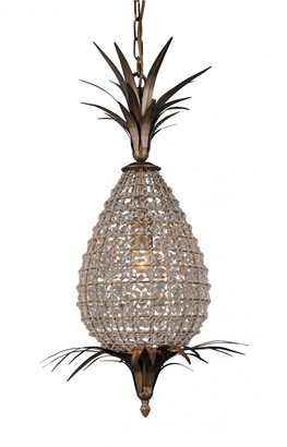 French Country Collections Crystal Pineapple Chandelier Small