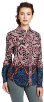 Plenty by Tracy Reese Women's Patchwork Print Shirt