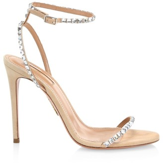 Aquazzura Very Vera Embellished Suede Sandals