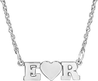 FINE JEWELRY Personalized 2 Single Initial Heart Necklace