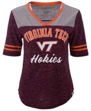 Colosseum Women's Virginia Tech Hokies Mr Big V-neck T-Shirt