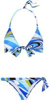 Emilio Pucci Libellula Printed Triangle Bikini - Blue