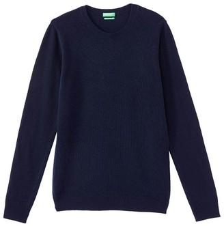 Benetton Wool Fine Knit Jumper with Round Neck