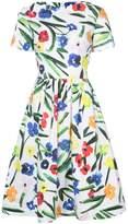 Oscar de la Renta boxy floral dress