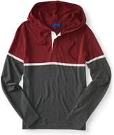 Long Sleeve Colorblock Hooded Henley