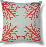 The Piper Collection Suzanne Embroidered 22x22 Linen Pillow