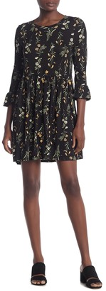 Bobeau Ruffle Sleeve Babydoll Dress