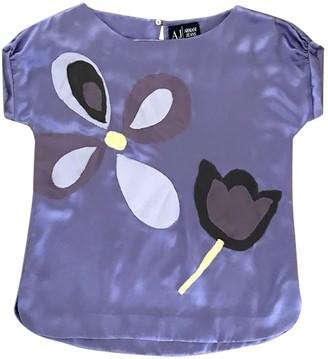 Armani Jeans Purple Silk Top for Women Vintage