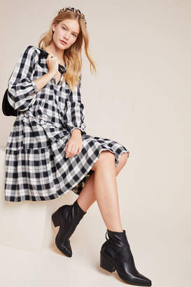 Maeve Amber Plaid Tiered Tunic