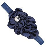 Headband - TOOGOO (R) Beautiful Chiffon Flowers Headband for Babies Girls (navy)