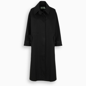 The Loom Black cotton trench coat