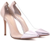 Gianvito Rossi Exclusive To Mytheresa.com – Plexi Metallic Leather Pumps