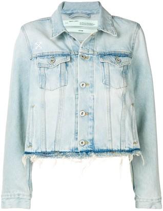Off-White denim frayed jacket