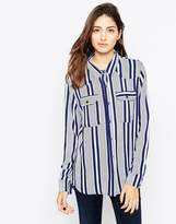 Brave Soul Mixed Stripe Shirt