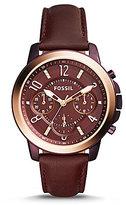 Fossil Gwynn Chronograph Leather-Strap Watch
