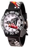 Cars Boys' Disney 3 Lightning McQueen Black Plastic Time Teacher Watch - Black