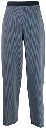 Odeeh High-Waisted Straight Trousers