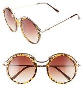 Spitfire Women's A-Teen Round Sunglasses - Black/ Gold/ Brown