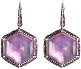 Stephen Webster 'Haze' diamond Crystal Haze sapphire large drop earrings