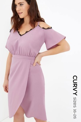 Girls On Film Pink Midi Dress