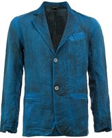 Avant Toi bleached effect blazer - men - Silk/Cotton/Linen/Flax/Polyamide - M