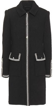 Maje Embroidered Tweed Coat