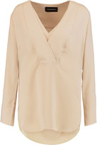 By Malene Birger Draped crepe de chine blouse