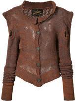 Vivienne Westwood mesh knit button cardigan - women - Cotton/Acrylic/Virgin Wool - L/XL