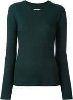 MM6 MAISON MARGIELA ribbed sweater - women - Spandex/Elastane/Modal - M