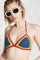 Forever 21 Crochet Triangle Bralette