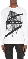 Helmut Lang Graphic-print Stretch-cotton Top