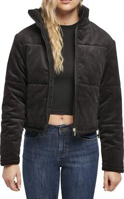 Urban Classics Women's Ladies Corduroy Puffer Jacket