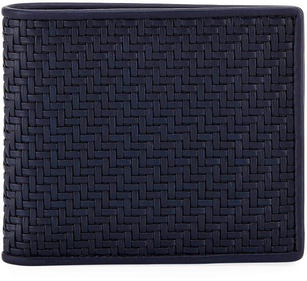 Ermenegildo Zegna Pelle Tessuto Leather Bifold Wallet
