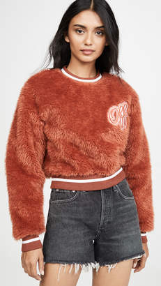 Off-White Faux Fur College Crew neck