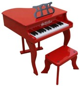 The Well Appointed House Schoenhut 30 Key Fancy Baby Grand Piano in Red for Kids