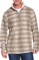 True Grit Men's Victorinox Swiss Army Melange Blanket Stripe Quarter Zip Fleece